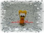 手作3.4mm糖果珠~筆套系列作品:3mm糖果珠(加菲貓)筆套作品.JPG
