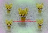 手作3.4mm糖果珠~筆套系列作品:3mm糖果珠(懶懶熊)筆套作品.JPG