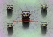手作3.4mm糖果珠~筆套系列作品:3mm糖果珠(貓頭鷹)筆套作品.JPG