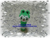 手作3.4mm糖果珠~筆套系列作品:3mm糖果珠(大眼蛙)筆套作品2.JPG