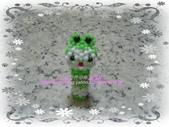 手作3.4mm糖果珠~筆套系列作品:3mm糖果珠(大眼蛙)筆套作品.JPG