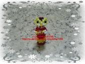 手作3.4mm糖果珠~筆套系列作品:3mm糖果珠(虎爺財神)筆套作品.JPG