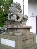 新竹市---北區:市議會前石獅(原新竹神社遺跡4)