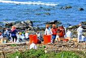 新北市---石門區:20160328鹿子尖海岸德翔台北擱淺漏油救援現場