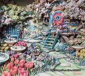 歐式立體紙雕-Kim Jacobs:201 鬱金香花園