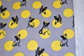 圖案防水布:波士頓犬/水玉黃灰色