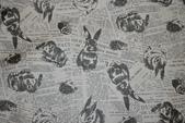 圖案防水布:小灰兔/深灰