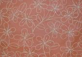 圖案防水布:優雅花~橘子色系