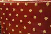 圖案防水布:大水玉1CM。復古暗紅
