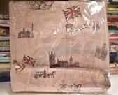 棉麻布:英倫風情。豆沙粉