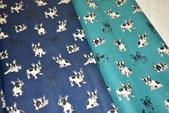 圖案防水布:波士頓犬/夜空藍/活力綠色