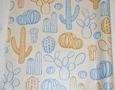 圖案防水布:大型仙人掌/麻米色