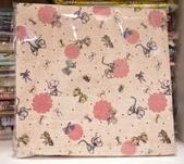 棉麻布:蝴蝶結。麻粉色