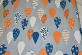 圖案防水布:熱氣球/淺藍灰
