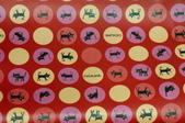 圖案防水布:水玉貓(水玉約50元硬幣大)