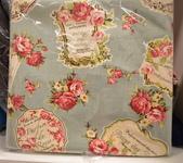 棉麻布:法式風情。水藍色