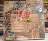 棉麻布:玫瑰書籤