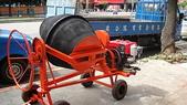 2.滾筒圓錐拌合機:柴油8HP混凝土攪拌機-背面