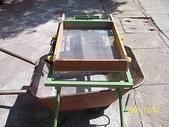 3.篩選機:小型迷你篩砂機-高度加高可放單輪車