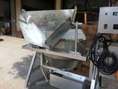 2.滾筒圓錐拌合機:白鐵雙錐滾筒混合機-漏斗