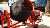 2.滾筒圓錐拌合機:柴油8HP混凝土攪拌機-正面