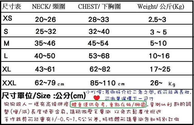 尺寸表.jpg - 7-尺寸量測-穿法--布種 -款式-選搭及清潔與保養...
