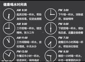 未分類相簿:健康喝水時間表