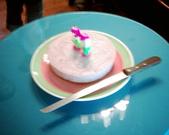 松山高中生研社創社20週年社慶聚餐照片:松高生研社20歲生日的蛋糕