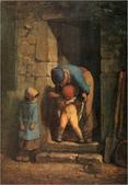 米勒與巴比松畫派:母親的細心(引自視覺素養學習網)