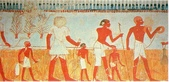 博物綜覽相簿:古埃及第18王朝測量與紀錄農作物收成的工作壁畫(引用自維基共享資源)