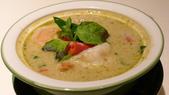 台北文華東方酒店-Thai&Thai:Thai&Thai泰式餐廳-古法綠咖哩蝦.JPG