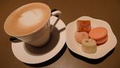 台北遠東國際香格里拉大飯店-馬可波羅義大利餐廳&馬可波羅酒廊:台北遠東國際香格里拉大飯店-馬可波羅義大利餐廳-拿鐵咖啡佐義式小點.JPG