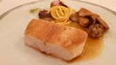 巴黎Hotel De Meurice-Restaurant le Meurice米其林三星法式餐廳:Restaurant le Meurice米其林三星法式餐廳-法式烤珠雞佐法式蕈菇.JPG