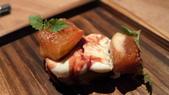 台北米其林一星-Longtail無國界料理:台北米其林一星-Longtail無國界料理-無花果吐司,瑞可達起士,波特酒,檸檬香蜂草.JPG