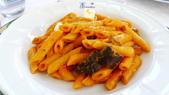 義大利之旅-卡布里島-藍洞-蘇連多-阿瑪菲海岸:阿瑪菲海岸-拉維洛-景觀餐廳-義式茄汁筆管麵.JPG