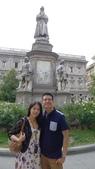 義大利之旅-米蘭-加達湖-維諾納:米蘭-達文西雕像2.JPG