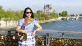 法國巴黎:法國巴黎-塞納河-愛情鎖藝術橋2.JPG