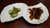 台北花園大酒店-花園日本料理:醃小黃瓜&柴魚.jpg