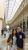 義大利之旅-米蘭-加達湖-維諾納:米蘭-艾曼紐二世拱廊購物區7.JPG