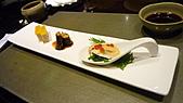 八王子日式懷石料理:百合根+鮑魚佐鮭魚卵+鳳螺煮.jpg