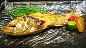 八王子日式懷石料理:鹽烤季節鮮魚.jpg