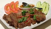 台北文華東方酒店-Thai&Thai:Thai&Thai泰式餐廳-碳烤澳洲和牛.JPG