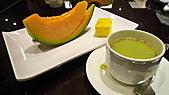 八王子日式懷石料理:南瓜慕斯佐甜美哈密瓜&抹茶.jpg