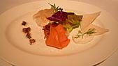 君悅飯店-寶艾西餐廳:煙燻鮭魚&鳟魚&比目魚.JPG