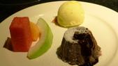 犇鐵板燒:犇鐵板燒-熔岩巧克力蛋糕1.JPG