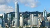 三訪香港麗思卡爾頓酒店(THE RITZ-CARLTON HONGKONG)+維多利亞港:香港麗思卡爾頓酒店(THE RITZ-CARLTON HONGKONG)-大堂前景緻.JPG