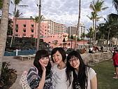 2月ALOHA~:來這麼多次,第一次發現的粉紅飯店!